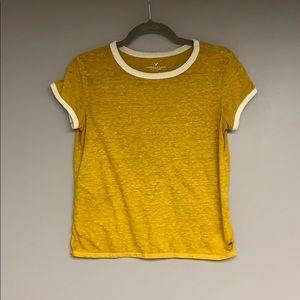 American Eagle Mustard T-Shirt
